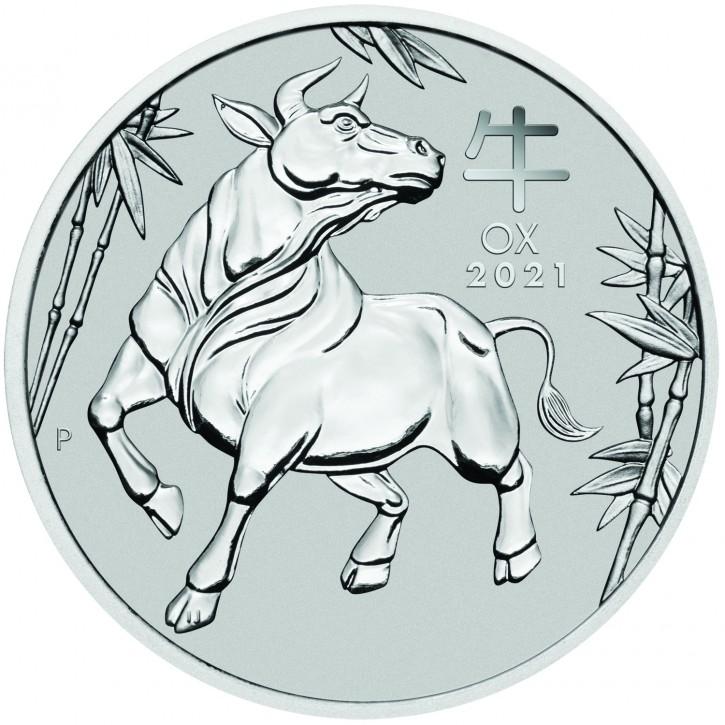Australien $ 100 Platin Lunar Ochse 1 oz Platin 2021