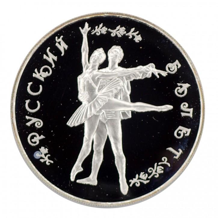Russland 25 Rubel Silber PP Russisches Ballett 1994