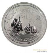 Australien $ 1 Silber Lunar II Hase 2011