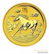 Australien $ 25 Lunar Jahr des Pferdes 1/4 oz Gold 2014