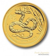 Australien $ 100 Lunar Jahr der Schlange 1 oz Gold 2013