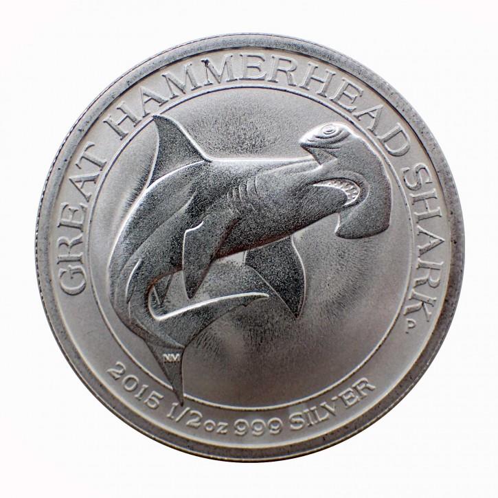 Australien $ 0,50 Hammerhai 1/2 oz Silber 2015