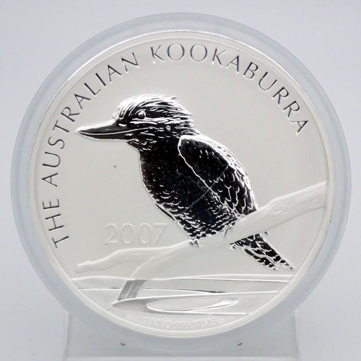 Australien $ 30 Silber 1 kg Kookaburra 2007