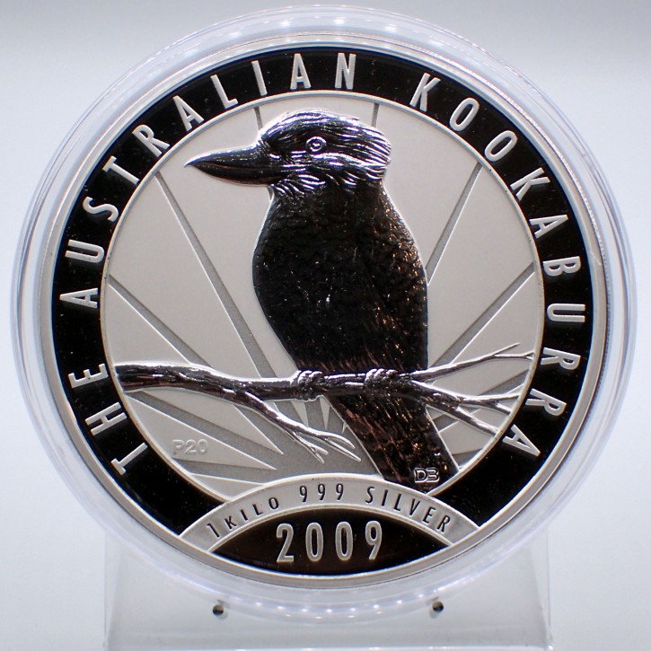 Australien $ 30 Silber 1 kg Kookaburra 2009