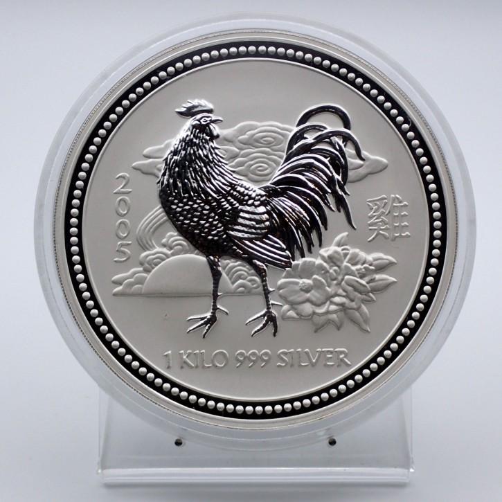 Australien $ 30 Silber Lunar I Hahn 2005 1 Kilo Silber