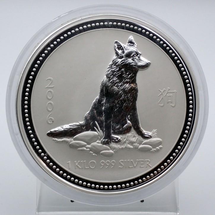Australien $ 30 Silber Lunar I Hund 2006 1 Kilo Silber