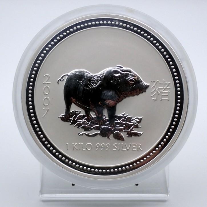 Australien $ 30 Silber Lunar I Schwein 2007 1 Kilo Silber