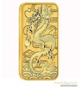 Australien $ 100 Drache/Dragon Rectangle 1 oz Gold 2018