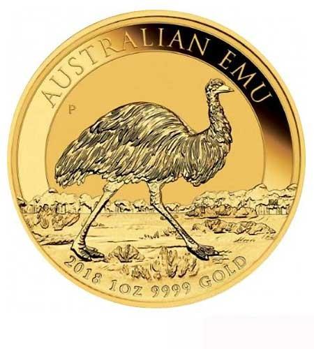 Australien $ 100 Emu 1 oz Gold 2018