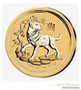 Australien $ 100 Lunar Jahr des Hundes 1 oz Gold 2018