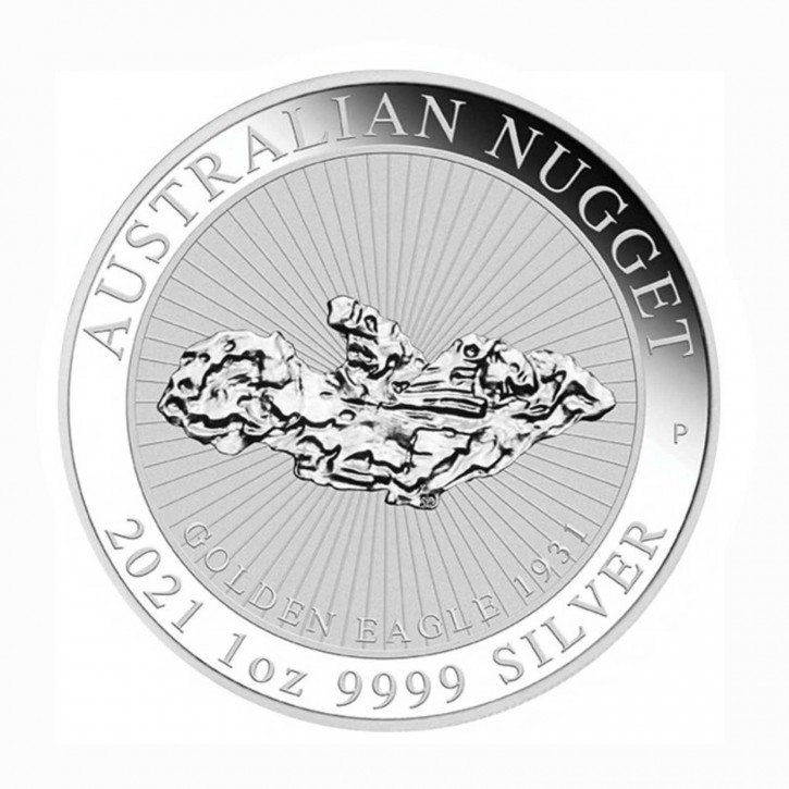 "Australien $ 1 Silber Nugget ""Golden Eagle"" 3. Ausgabe 2021"