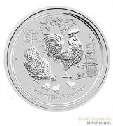 Australien $ 0,5 Silber Lunar II Hahn 2017