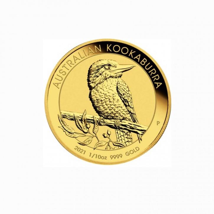 Australien $ 15 Gold 1/10 oz Kookaburra 2021