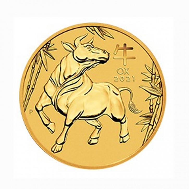 "Australien $ 100 1 oz Gold Lunarserie ""Ochse"" 2021"
