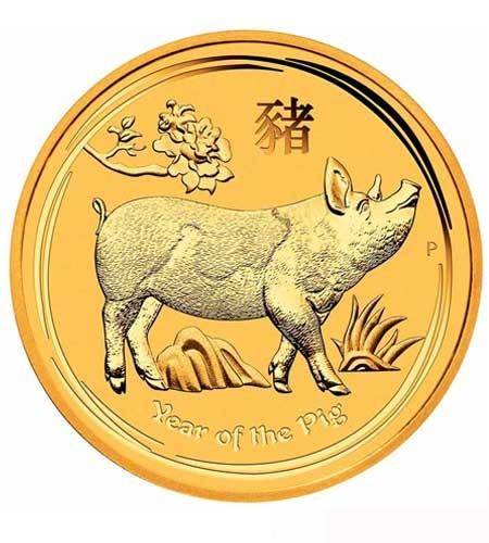 Australien $ 100 Lunar Gold Jahr des Schweins 2019