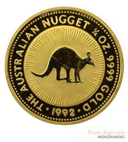Australien 25 Dollar Känguruh 1/4 oz Gold