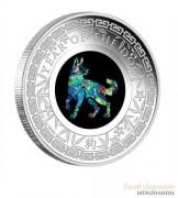 Australien $ 1 Opalserie Lunar Hund 2018 1 oz Silber PP