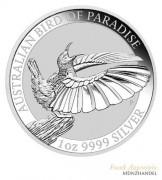 Australien $ 1 Birds of Paradise Victoria Paradiesvogel 1 oz Silber 2018
