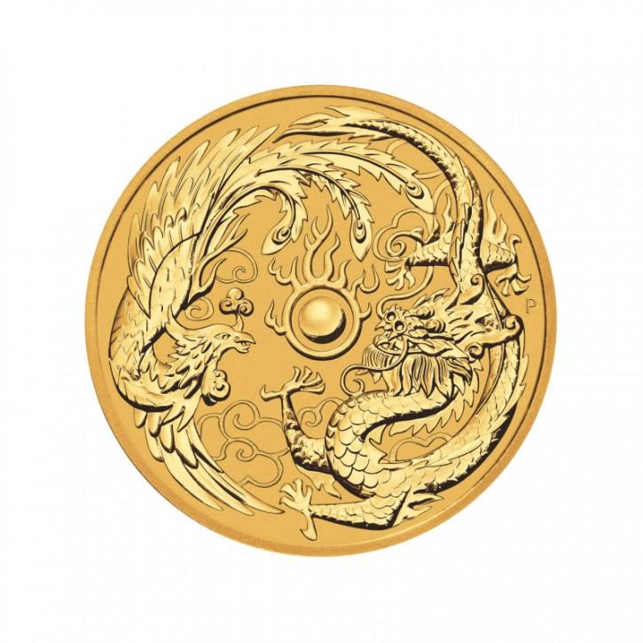 Australien $ 100 Drache & Tiger 1 oz Gold 2019