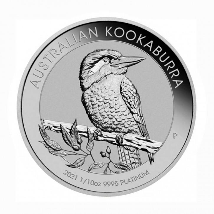 Australien $ 15 Platin Kookaburra 1/10 oz Platin 2021