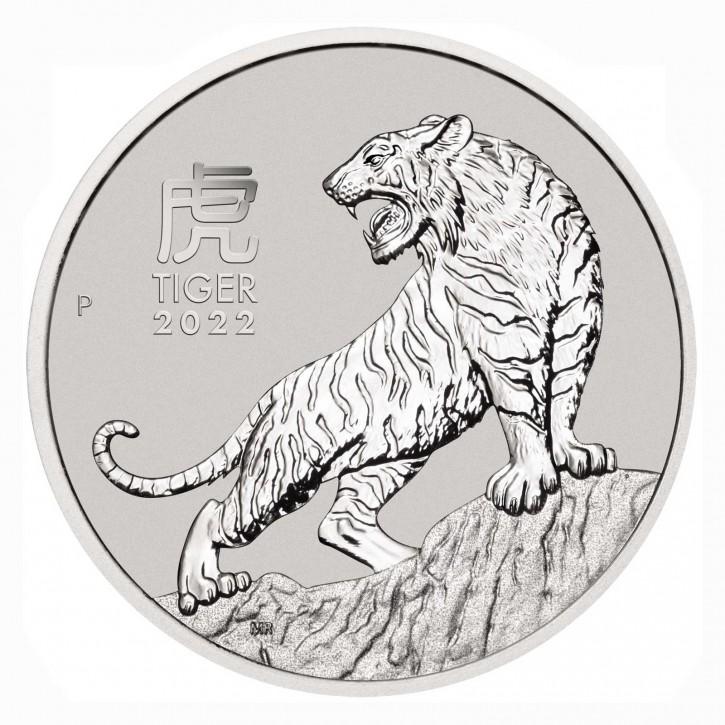 Australien $ 100 Platin Lunar Tiger 1 oz Platin 2022