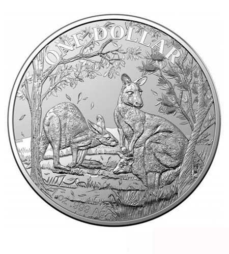 Australien $ 1 Silber Känguru RAM 2019 st