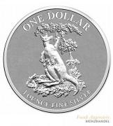 Australien $ 1 Silber Känguru 2015 st