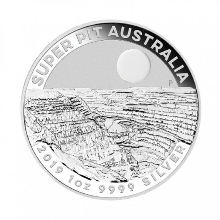 Australien $ 1 Silber 1 oz Super Pit 2019