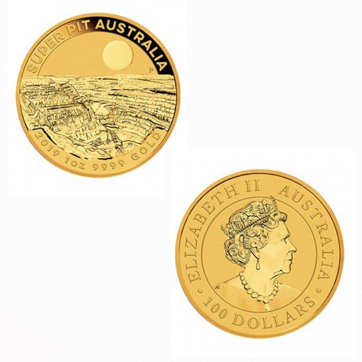 Australien $ 100 1 oz Gold Super Pit 2019