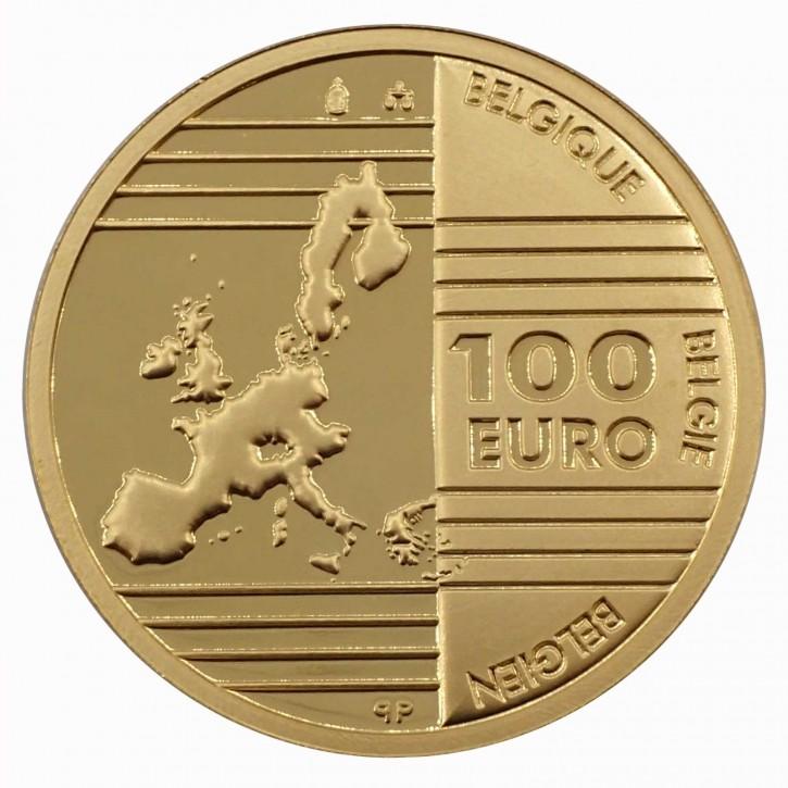"Belgien 100 Euro Gold ""Gründervater Europas"" 2002"