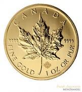 Canada $ 50 Maple Leaf 1 oz .9999 Gold div Jahre