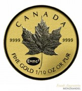 Canada Maple Leaf Gold 1/10 oz 2015 Privy Einstein