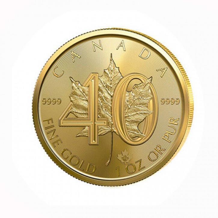 Canada $ 50 Maple Leaf 1 oz .9999 Gold 2019 40 Jahre Jubiläum