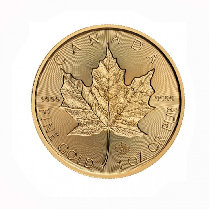 Canada $ 50 Maple Leaf 1 oz .9999 Gold 2019 Incuse