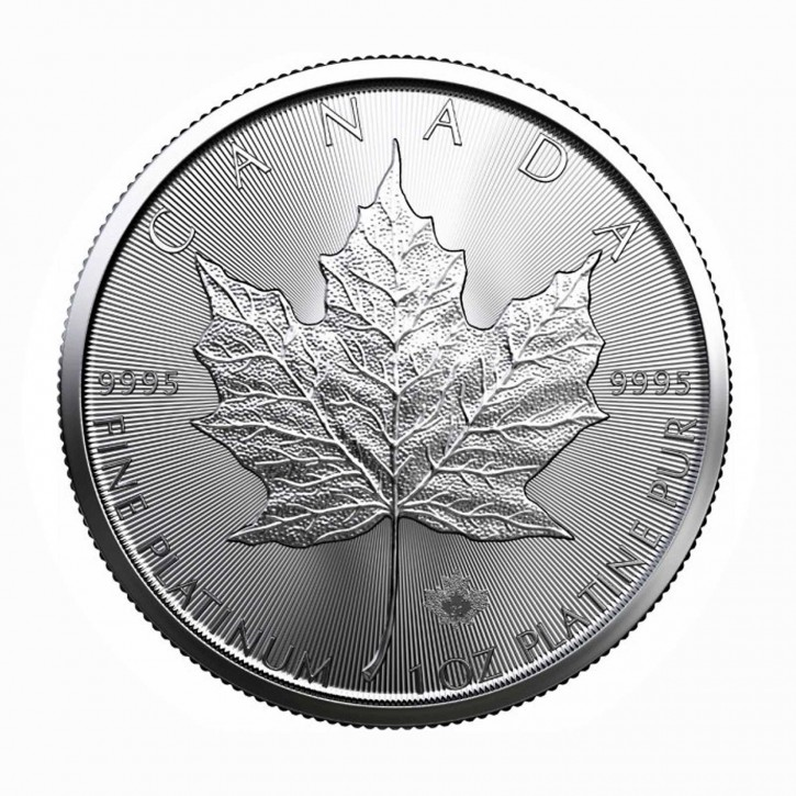Canada $ 50 Platin Maple Leaf 1 oz .9995 Pt