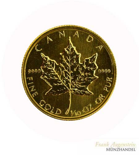 Canada 5 Dollars Maple Leaf 1/10 oz Gold