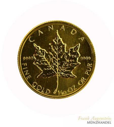 Canada 5 Dollars Maple Leaf 1/10 oz Gold