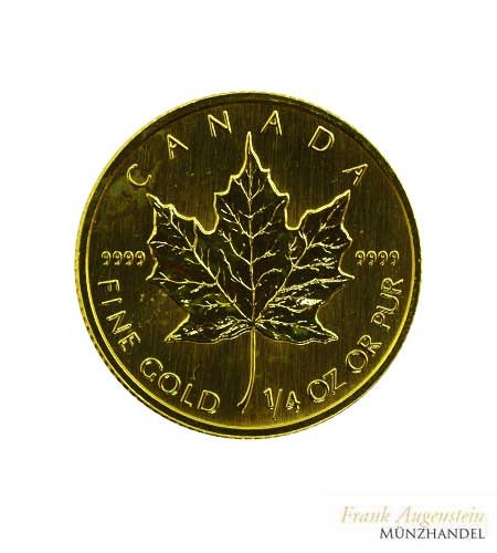 Canada 10 Dollars Maple Leaf 1/4 oz Gold
