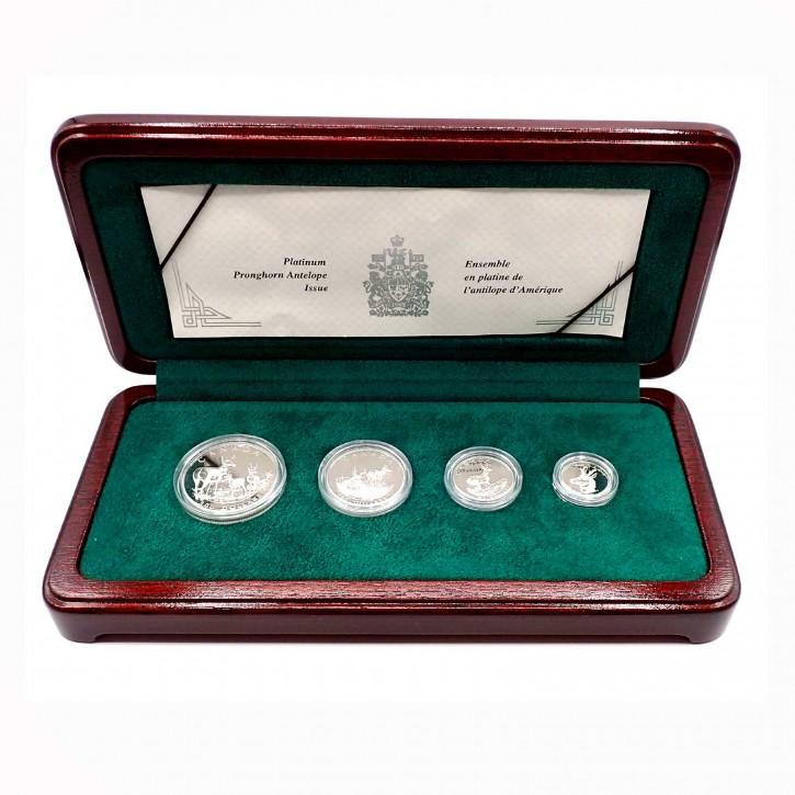 Canada Pronghorn Antilope Platin Set 1,85 oz Polierte Platte 2000