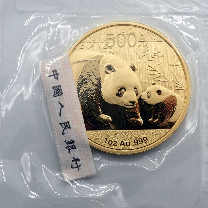 China 500 Yuan Panda 1 oz Gold 2011
