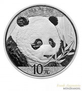 China 10 Yuan Silber Panda 2018