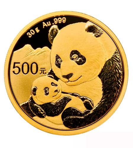 China 500 Yuan 30 g Gold Panda 2019