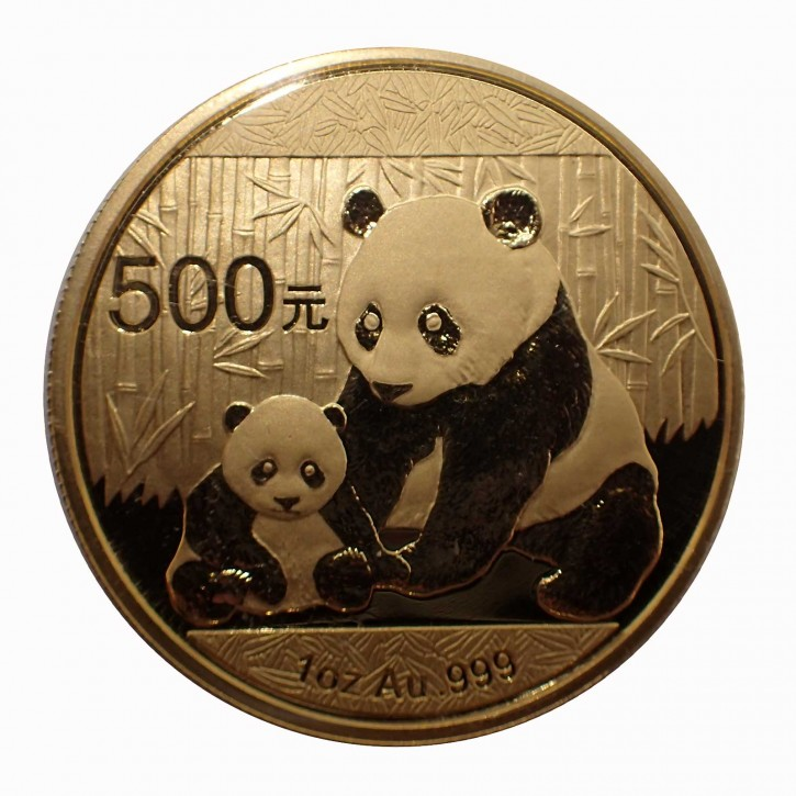 China 500 Yuan 1 oz Gold Panda 2012