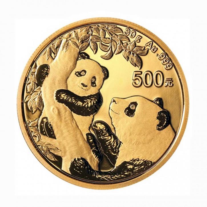 China 500 Yuan 30 g Gold Panda 2021