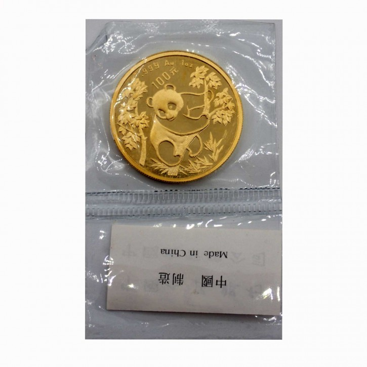 China 100 Yuan Panda 1 oz Gold 1992