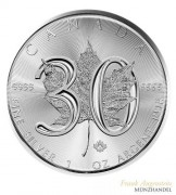 Canada $ 5 Silber 1 oz Maple Leaf 2018 30th Anniversary