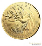 Canada $ 200 Call of the Wild Serie Motiv Hirsch 1 oz .99999 Gold 2017