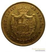 Spanien 25 Pesetas Alfons XII Gold 1877