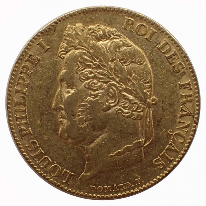 Frankreich 20 Francs Louis Phillipe I. Gold 1838