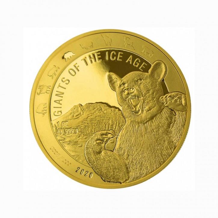 Ghana Höhlenbär Giganten der Eiszeit Gold 1 oz 2020